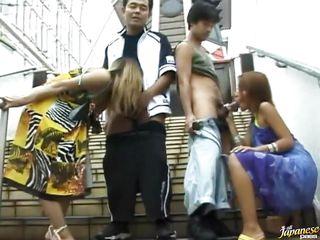 Порно видео худые азиатки
